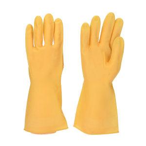 WEIDIE/威蝶 乳胶黄加厚高级牛筋手套 牛筋手套 M 30cm 95g 1副
