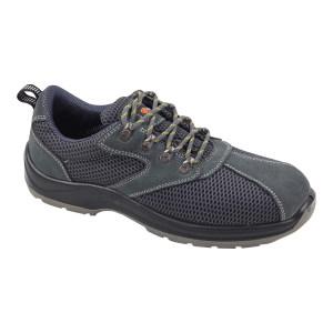DADUN/大盾 PL系列透气款低帮翻毛皮安全鞋 PL008 45码 灰色 防砸防刺穿 1双