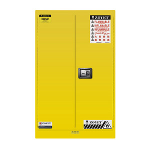 ZOYET/众御 易燃液体安全柜 ZYC0060 60gal/227L 高1650mm 宽860mm 深860mm 双门 手动 黄色 1台
