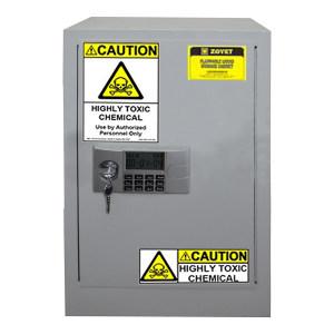 ZOYET/众御 毒性化学品安全柜 ZYC004W 4gal/15L 高560mm 宽430mm 深430mm 单门 自动 灰色 1台
