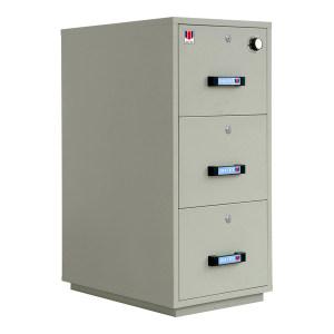 ZOYET/众御 防火防磁柜 ZYF0132-3KL+1KCL 高1231mm 宽551mm 深824mm 1个纸张抽屉+2个磁盘抽屉+3把钥匙锁+1把机械密码锁 灰色 1台