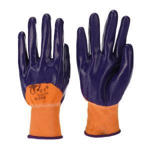 XINGYU/星宇 十三针彩尼龙丁腈半浸手套 N598 M(均码) 紫色涂层 1双