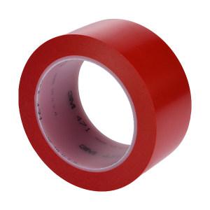 3M PVC单色地面标识胶带 471 红色 50mm*33m 1卷