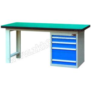 AIWIN 单侧柜工作桌A型 QH03170复G 台面承载800~1000kg 1500×750×800 1500×750×800 抽屉/柜体100E×2 150E×1 250E×1 框架灰色 1张
