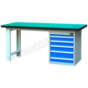 ZKH/震坤行 单侧柜工作桌B型 QH03181榉木G 1500×750×800mm 3×100 2×150 1张