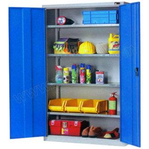 ZKH/震坤行 层板储物柜 QH04003 1023×550×1800mm 层板4块 每层承重100kg  柜体是灰色 7035  门板蓝色 5012 1个