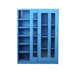 ZKH/震坤行 分隔式玻璃移门柜 QH04220 1120×450×1500mm  层板8块 1个