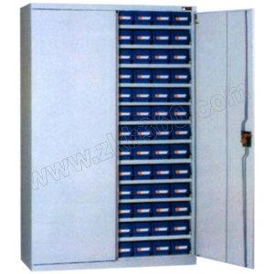 ZKH/震坤行 带门十二层零件盒置物柜 QH04270 1000×430×1800mm 含盒 层板12块  实物13层零件盒 1个