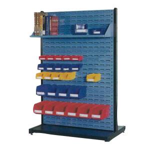 AIWIN 单面固定物料整理架 DHR321 960W×380D×1450H 2方孔 1百叶 挂板Ral5012 边框黑色 1个