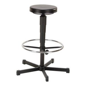 MEY A1-H系列工作凳 A1-H-PUA3-FR5 黑色聚氨酯坐垫 直径320mm 高度调幅530-780/520-775mm 踏环直径500mm 1把