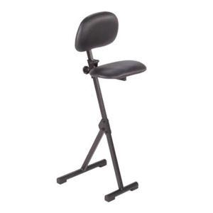 MEY AF系列站立工作辅助椅 AF-SR-KL 黑色仿皮软垫的坐垫和靠背 坐垫235x380mm 靠背250x330mm 高度调幅530~900mm 1把