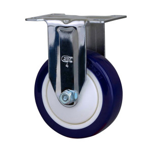 EDL/易得力 镀铬4寸定向高强度聚氨酯TPU脚轮 57204-574-87 载重130kg 底板规格95.5×66.5mm 安装高度135mm 1只