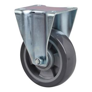 EDL/易得力 镀锌4寸定向聚氨酯PU脚轮 64104-644-76 载重200kg 底板规格105×85mm 安装高度138mm 1只