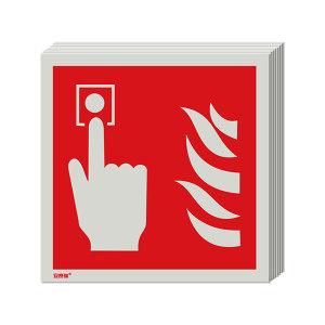 SAFEWARE/安赛瑞 消防警示标签(手动报警按钮) 20217 100*100mm 1包