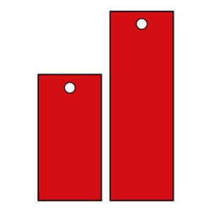 SAFEWARE/安赛瑞 空白塑料吊牌 14833 长方形 25.4*50.8mm 红色 1包