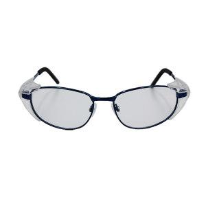 QF/奇非 舒适型金属娇视安全眼镜镜框 QF-3 蓝色 可定制近视镜片组合销售 1副