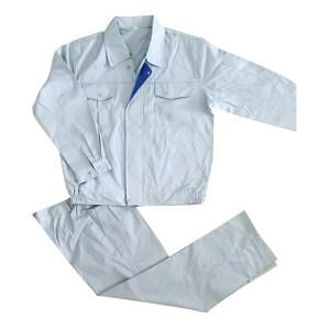 MEIZHUO/美卓 长袖涤卡工作服 工作服 S/160 银灰色 1套