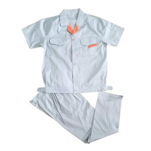 MEIZHUO/美卓 短袖细斜纹涤卡工作服 短袖细斜纹 3XL/185 银灰色 1套
