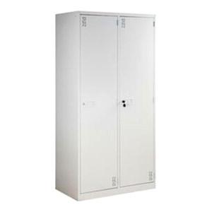 JIDA/集大 两门更衣柜 UGY-215 900×500×1800mm 向右侧单开 每门内两块层板一根衣杆 浅灰色 1个