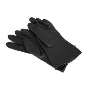 WEIDIE/威蝶 黑色工业耐酸碱手套 31A-1 均码 31cm 中厚 1副