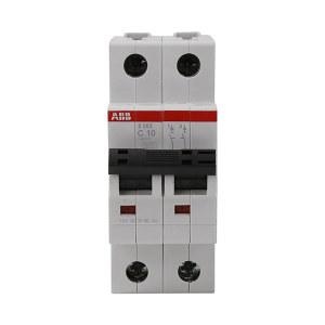 ABB S200系列微型断路器 S202-C10 C脱扣 额定电流10A 1个