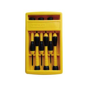 STANLEY/史丹利 精密螺丝批套装 66-052-1-23C 6件 透明盖塑盒 1套