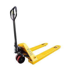 NOBLELIFT/诺力 手动托盘液压搬运车 DF-550*1150PU2.5T 额定载重2.5t 货叉外宽550mm 货叉长度1.15m 聚氨酯轮(前轮双轮) 车体黄色 1台