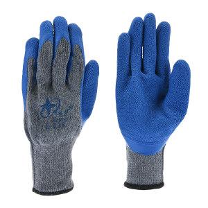 XINGYU/星宇 十针粗涤乳胶纱皱纹手套 L218 L(均码) 蓝色涂层 1双