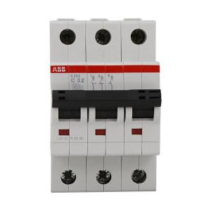 ABB S200系列微型断路器 S203-C32 C脱扣 额定电流32A 1个