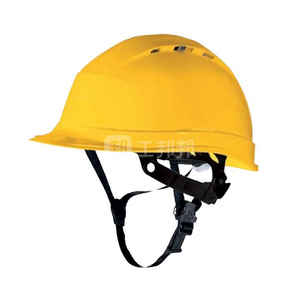 DELTA/代尔塔 CH4ABS系列ABS安全帽 102106 黄色 8点织物内衬 含下颏带 1顶