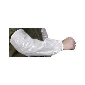 AMMEX/爱马斯 白色PE袖套 PSLEEVE-WC 长440mm 1箱