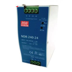 MW/明纬 NDR-240系列240W工业用DIN导轨型单组输出电源供应器 NDR-240-24 1个