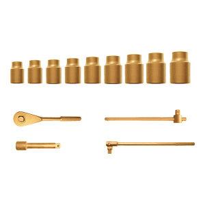 "CARLTSOE/卡索 1/2""防爆套筒套装 1530-27-A 27件 铝青铜 1套"