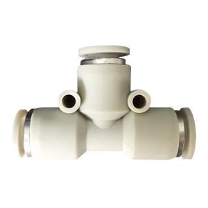 AIRTAC/亚德客 PE系列T型三通管接头(插管-插管类) PE8 塑料接头 快插8mm-8mm-8mm 1个