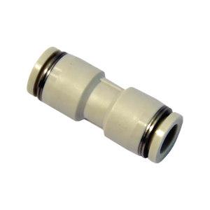 AIRTAC/亚德客 PU系列直通管接头(插管-插管类) PU6 塑料接头 快插6mm-6mm 1个
