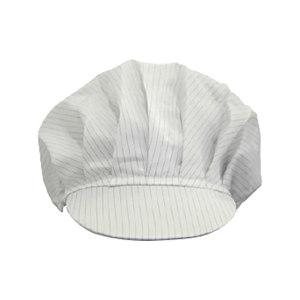 GC/国产 洁净室硬檐带折工作帽 C101 均码 白色 0.5mm条纹防静电布 1顶