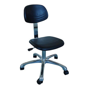 ZKH/震坤行 PU发泡防静电靠背椅 XY-3160A 可调高度范围约420~570mm座椅PU发泡成型 配黑色轮子 高度误差±5cm 1把