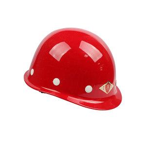 TF/唐丰 玻璃钢小沿安全帽 玻璃钢安全帽 红色 1顶