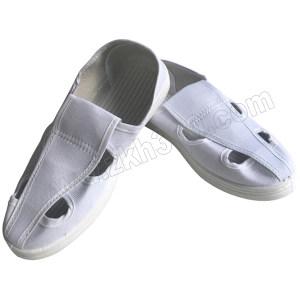 GC/国产 布面防静电四孔鞋 S101 44码 白色 PVC底 1双