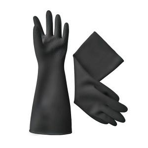 WEIDIE/威蝶 黑色工业耐酸碱手套 34A-1 均码 34±2cm 中厚 1副