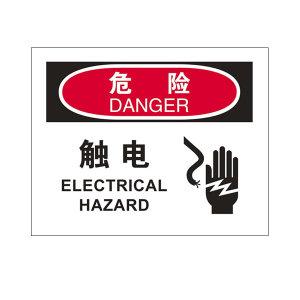 SAFEWARE/安赛瑞 OSHA安全标识(危险 触电) 31650 250*315mm 1.5mm厚ABS工程塑料板 1个