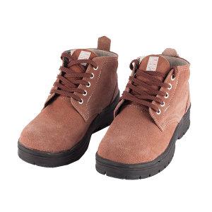 DUNWANG/盾王 牛绒皮中帮安全鞋 9788S-7 46码 棕色 防砸防刺穿 橡胶底 带独立鞋盒 1双