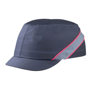 DELTA/代尔塔 COLTAN轻型防撞安全帽 102130 黑色(NO) PU涂层 PE帽壳 3cm帽檐 1顶