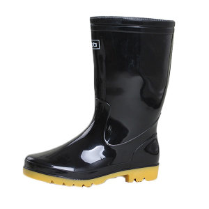 HUILI/回力 男款黑色中筒雨靴 807 43码 1双