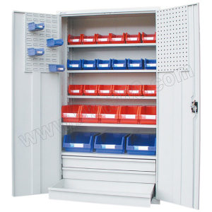 ZKH/震坤行 多功能置物柜 41100 W1023×D550×H1800mm 三抽四层板 灰色 1个