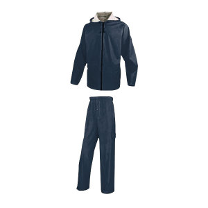 DELTA/代尔塔 EN850分体式涤纶雨衣套装 407008 2XL 藏青色(BM) 1套
