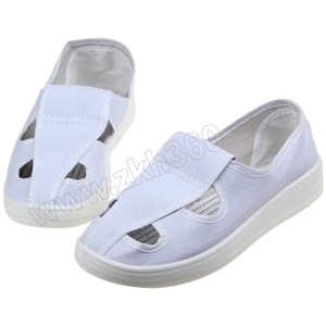 GC/国产 布面防静电四孔鞋 S107 38码 白色 PU底 1双
