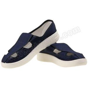 GC/国产 布面防静电四孔鞋 S108 36码 蓝色 PU底 1双