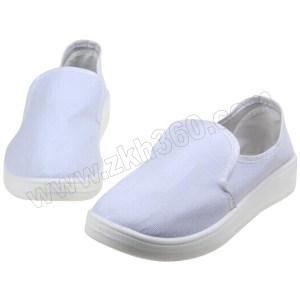 GC/国产 布面防静电中巾鞋 S109 42码 白色 PU底 1双