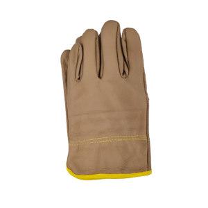 GC/国产 短皮手套 短牛皮头层手套 均码 浅色(混色) 1双